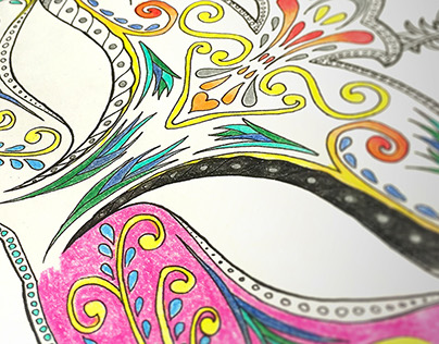 Around the World - Adult Coloring Book