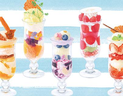 Illustrations for the Shiseido Parlor Kawasaki Store
