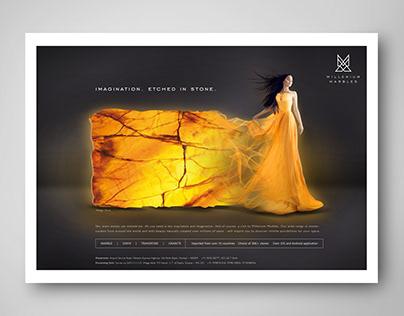 Millenium Marbles Print Ads