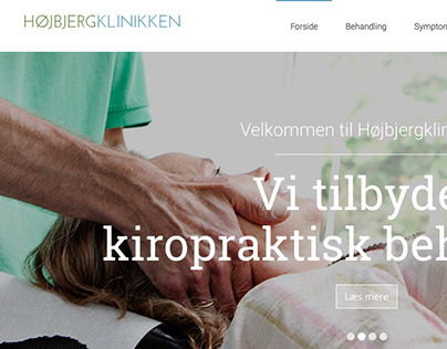 Højbjergklinikken – website design og implementering