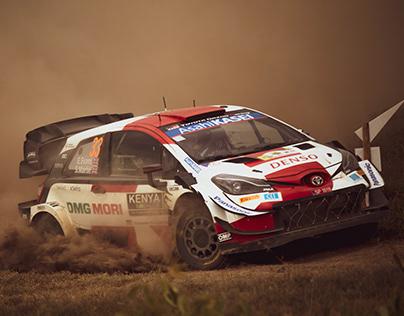 The WRC Safari Rally 'Elfyn Evans & Scott Martin'