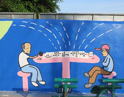 mural painting, Pingtan, China (2018)
