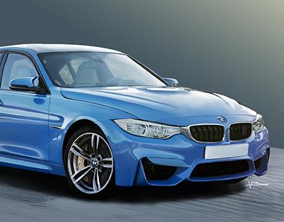 Digital drawing BMW M3