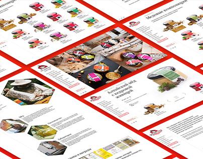 Medovik. Design, HTML&CSS