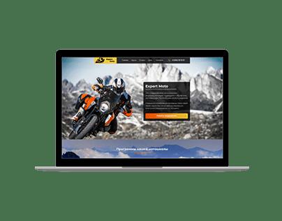 Дизайн лендинга Moto Expert