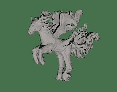 Fantasy Horse - 3D model