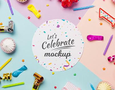 Mock up - Let's celebrate!