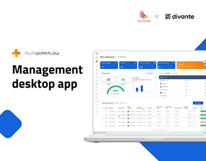 Plus Workflow - Management Desktop App