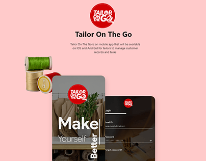 Tailor On the Go App design