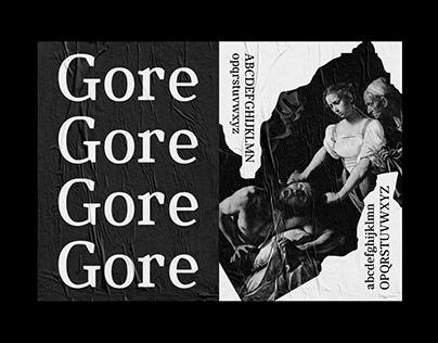 GORE TYPEFACE + SPECIMEN