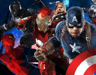 Avengers Infinity War - Poly Art