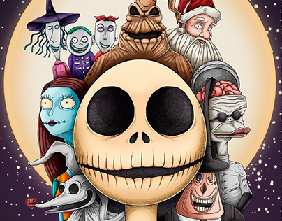 Poster Alternativo The Nightmare Before Christmas.