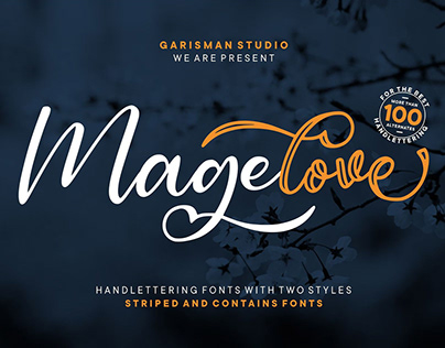Free Magelove Handwritten Font