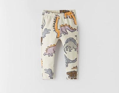 Zara Baby boy SS21 - Dinos AOP - leggings