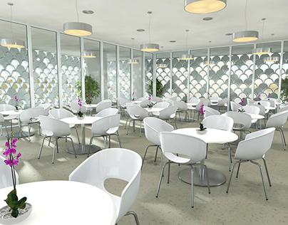 3D Illustration Café Lisboa
