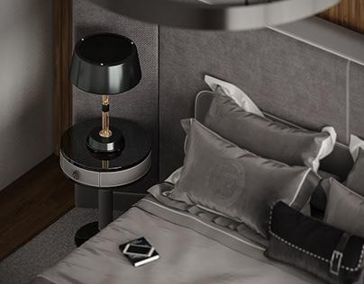 GREY&BLACK BEDROOM