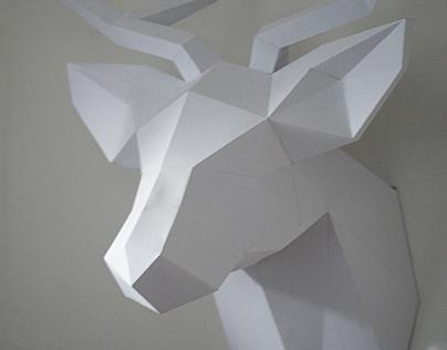 Paroháči - paper deer trophy