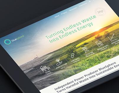 BluSphere website | branding, website, collateral