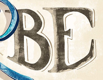 Be water, my friend - Lettering poster