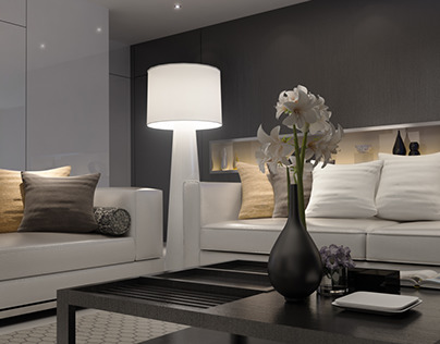 Project : House in Stockholm 3D Interior Visualisation