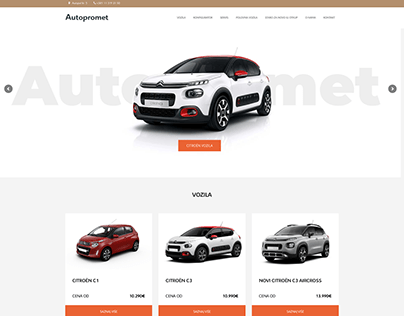 Autopromet Citroen - Web design