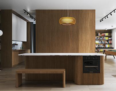 Apartment, interior visualizations