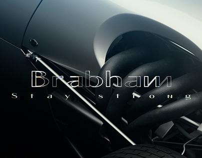 Brabham car rendering CGI