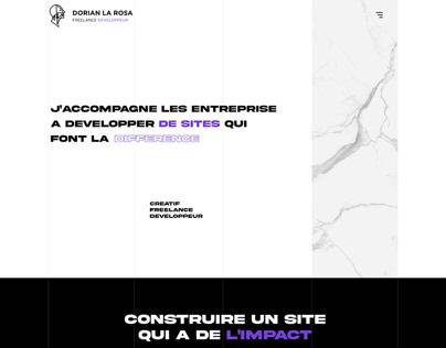 Creative Portfolio Website - Desktop Version
