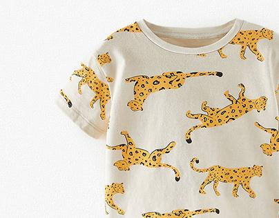 BABY BOY'20 Cheetah Print T-shirt