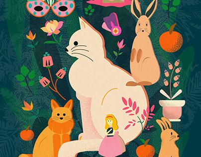 Wonderland. digital illustration
