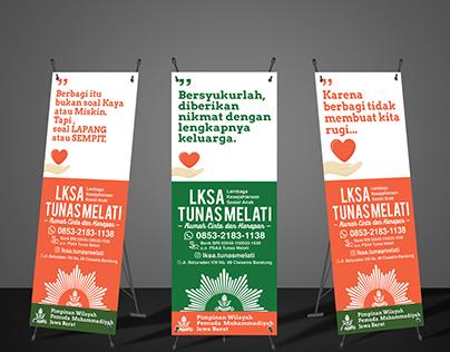 X-Stand Banner - LKSA Tunas Melati