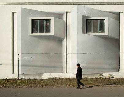 3d graffiti - architectural mural - 2