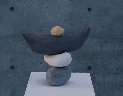 overlapping ceramic
