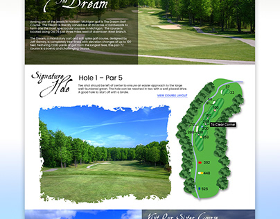 The Dream Golf Course - Web Design Concept