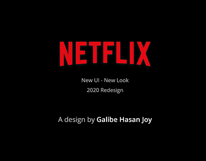 Netflix Redesign Concept - UI/UX Project
