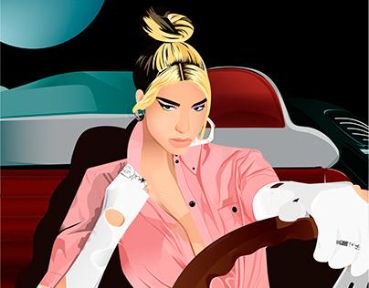 Dua Lipa | Future Nostalgia Illustration
