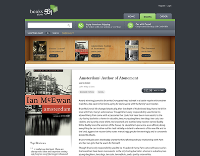 Mockup for Online Book Store