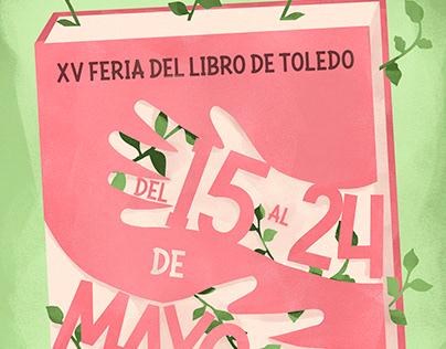 Cartel para XV Feria del libro de Toledo