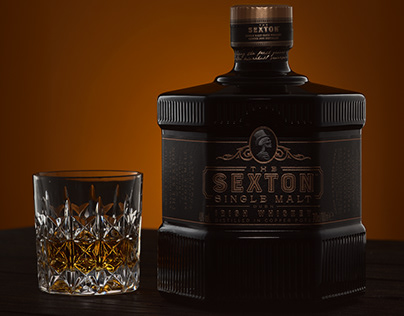 THE SEXTON whiskey – Product Photography