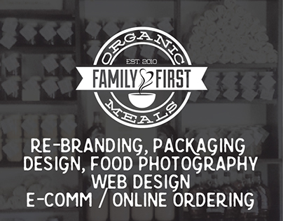 Family First Organic Meals - Rebranding