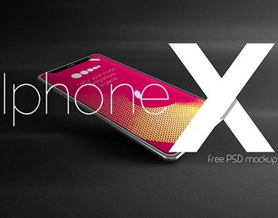 Free PSD mockup : Iphone X