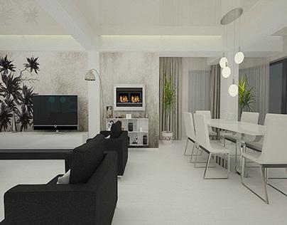 Casa amenajata in stil modern - Design interior 3d