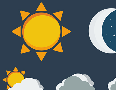 Meteo flat design icons
