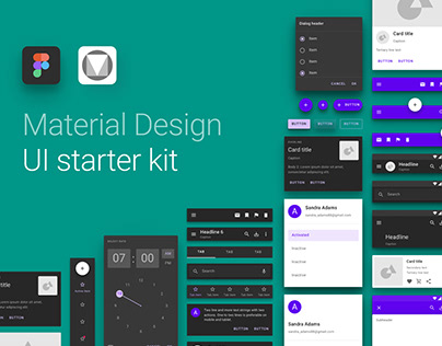Material Design UI Starter Kit for Figma