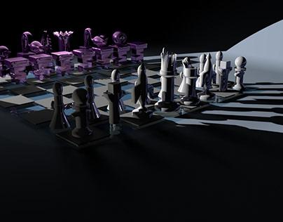 Sci-Fi Chessboard: Aliens Versus Humans