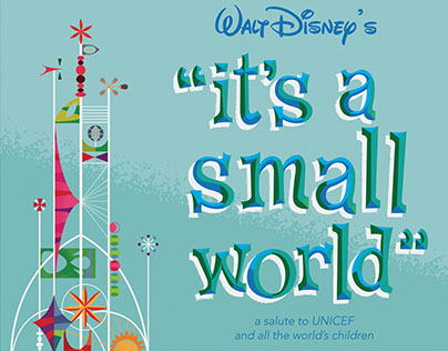 1964/1965 World's Fair- It's a Small World Poster
