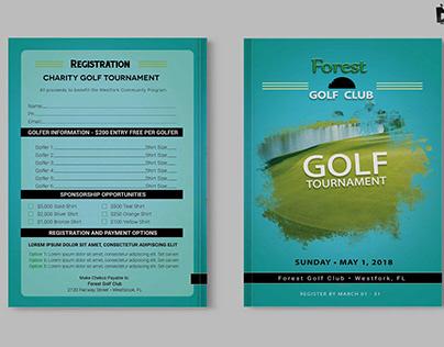 Free Golf Club Charity A4 Brochure Template