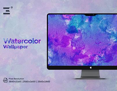 Free Purple Watercolor Wallpaper