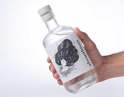 Absinthium - L'Assenzio enoteca - Label design