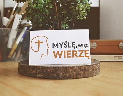 """Logo Design for """"Myślę, więc wierzę"""""""
